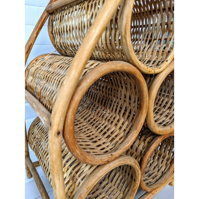 1980s Wicker Wine Caddy For Sale - Image 4 of 6