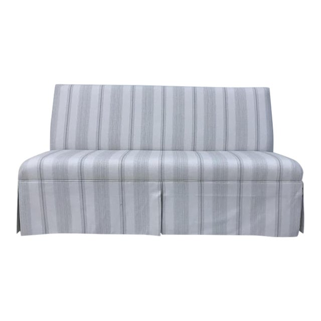 Century Furniture Skirted Armless Banquette For Sale