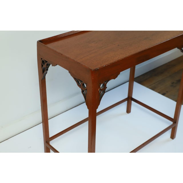 Late 20th Century Chippendale Occasional Table From Waldorf Astoria For Sale - Image 4 of 8