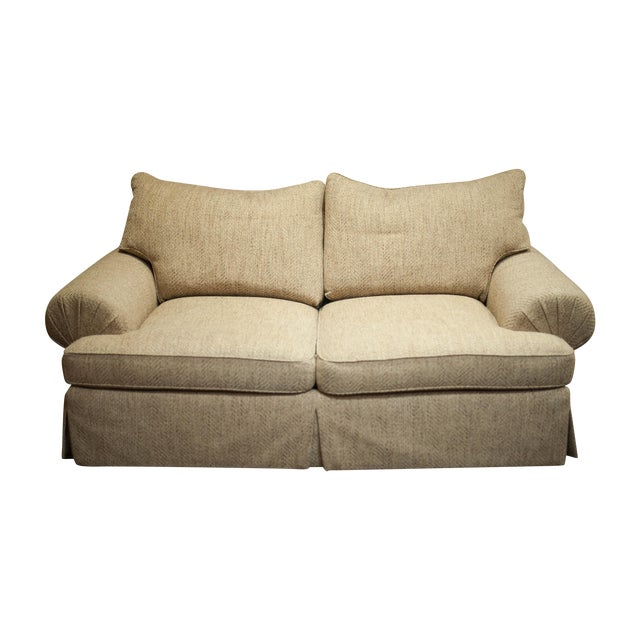 Hickory White Speckled Tan Love Seat - Image 1 of 10