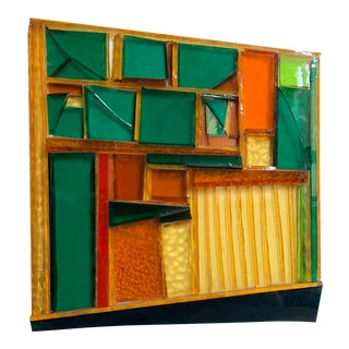Cubist Glass Sculptural Art by Ferro, 1974 For Sale