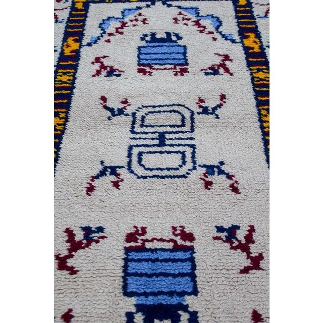 Cotton Handmade Vintage Rug For Sale - Image 7 of 10