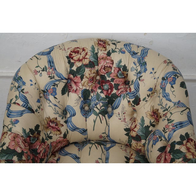 KayLyn Inc. Floral Upholstered Tufted Chaise Lounge - Image 5 of 10