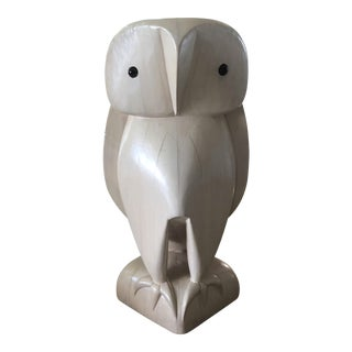 XL Wood Owl Sculpture