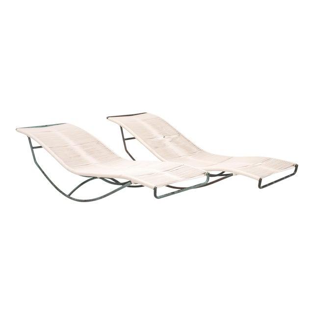 Pair of Waikiki Rocking Lounge Chairs by Walter Lamb for Brown Jordan For Sale
