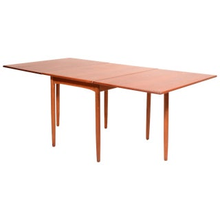 Mid Century Danish Modern Drop-Leaf Dining Table by Hans C. Andersen For Sale