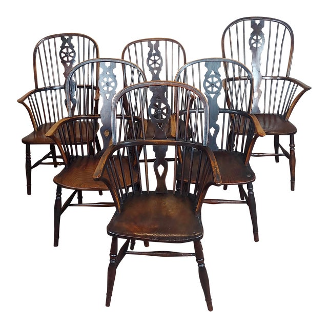 18th Century George III Windsor Chairs - Set of 6 For Sale
