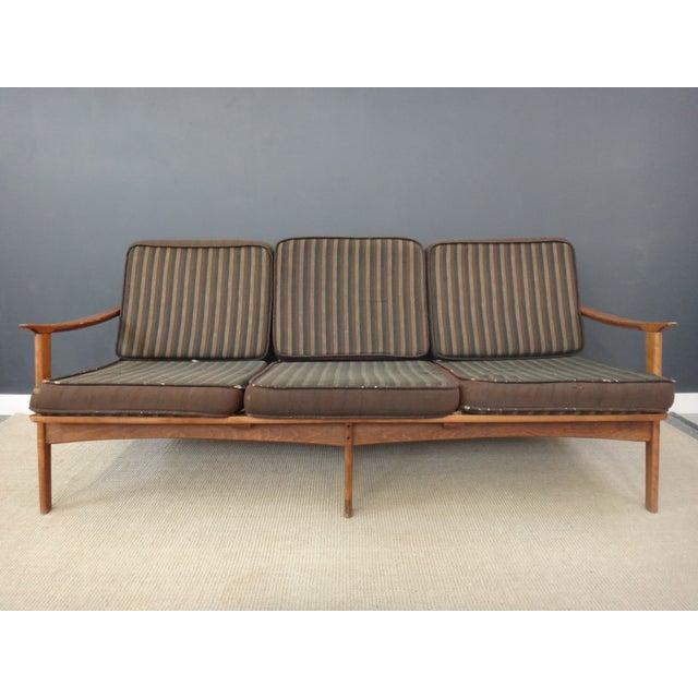 Danish Modern Lounge Sofa Frame - Image 4 of 4