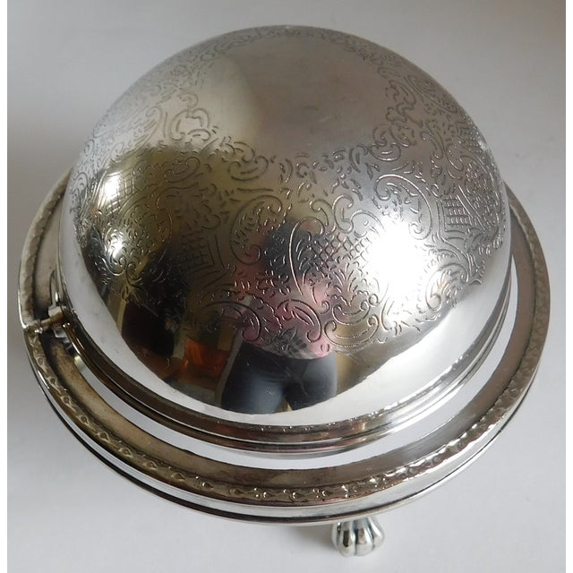 Mid-Century Silverplate Cigarette Globe - Made in England For Sale - Image 4 of 10