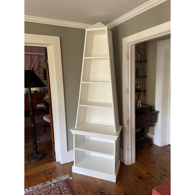 Mid-Century Modern Irwin and Lane Obelisk Bookcase Etagere With Pyramid Top For Sale - Image 3 of 9