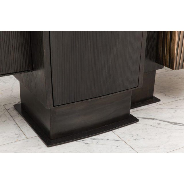 Gary Magakis, Blackened Steel and Layered Bronze Compact Console, USA, 2017 For Sale In New York - Image 6 of 9
