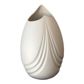 1990s Modern Bisque Finish Vase For Sale