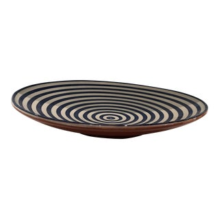 Safi Stripped Blue Platter