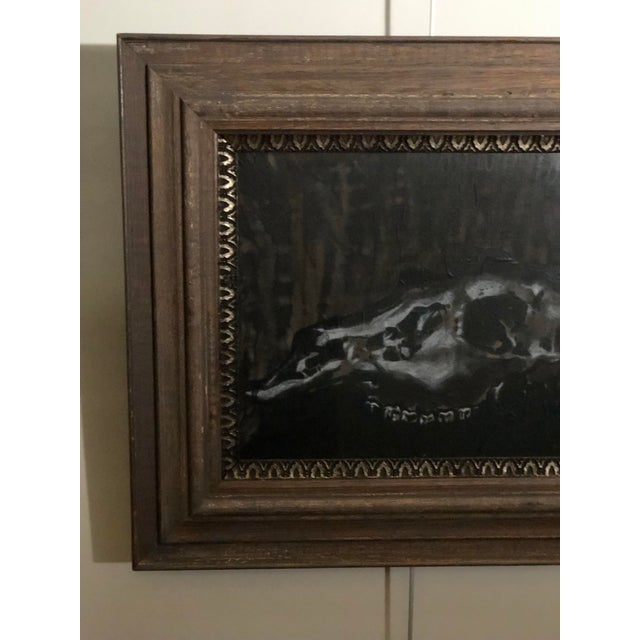 Black and White Watercolor of an Animal Skull For Sale In Atlanta - Image 6 of 11