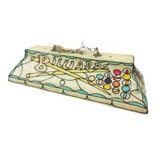 Vintage Mid Century Fiberglass Billiards Hanging Light For Sale
