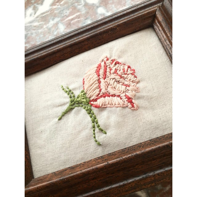 Hand Embroidered Rose Art - Image 3 of 5