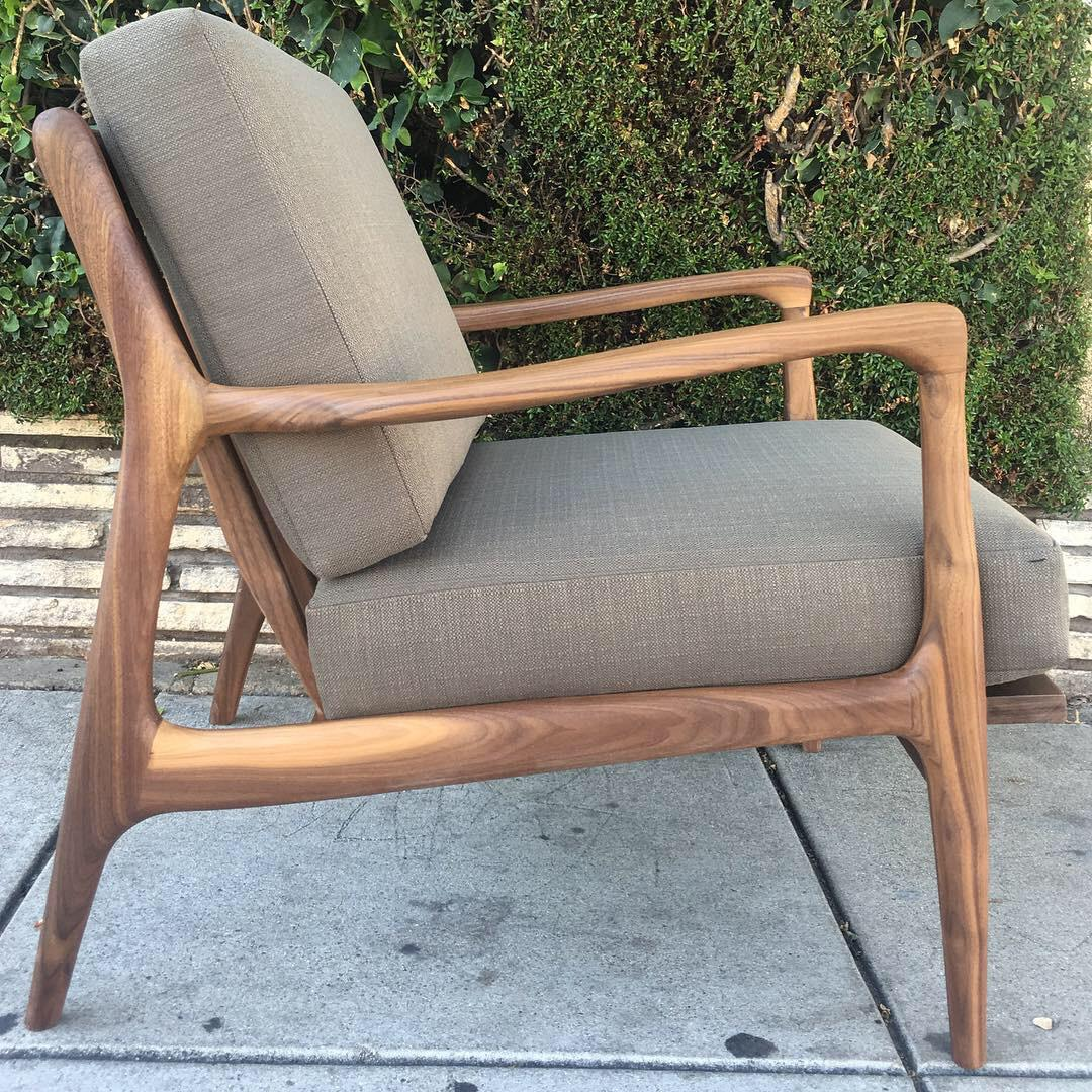 Not Yet Made   Made To Order Custom Lounge Chair In Rich Olive For Sale