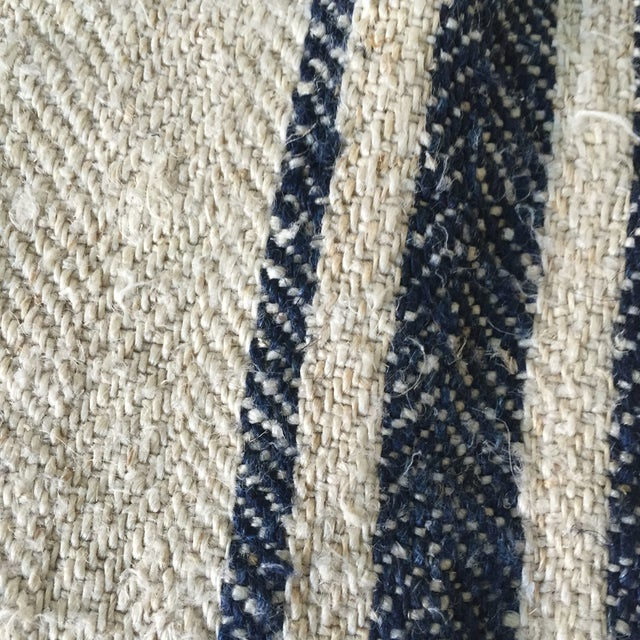 Vintage Linen Striped Lumbar Pillow Cover - Image 3 of 5