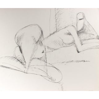 Minimalist Figure Drawing in Graphite, Circa 1998 For Sale