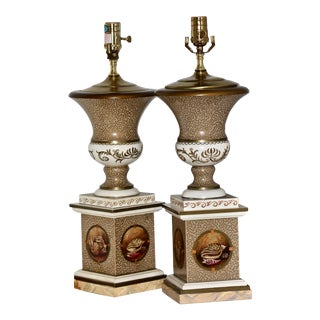 Contemporary Shell Painted Lamps by Brunschwig & Fils - a Pair For Sale