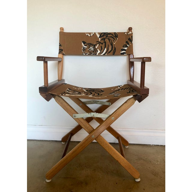 African Le Tigre Directors Chair For Sale - Image 3 of 10