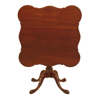 Kittinger T244 Scalloped Top Mahogany Tilt Top Table For Sale