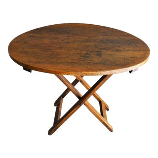 Antique French Pine Wine Tasting Table For Sale