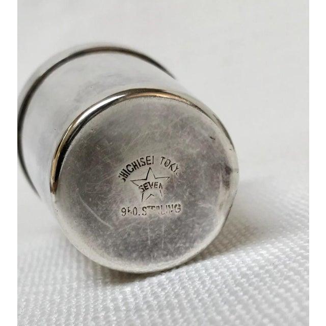 Metal Vintage Sterling Sake Cups - Set of 8 For Sale - Image 7 of 9