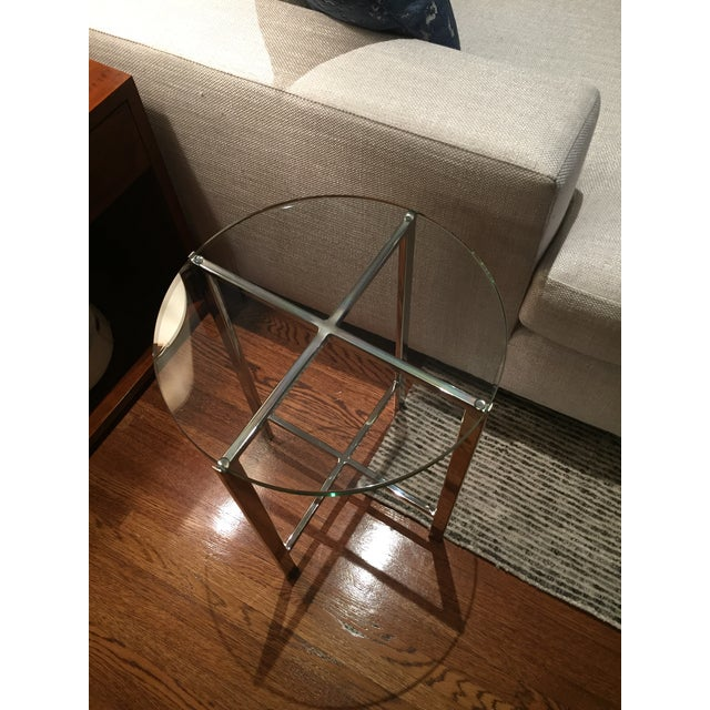 HD Buttercup Chrome & Glass Side Table - A Pair - Image 4 of 6