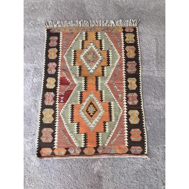 1930s Vintage Turkish Anatolian Kilim Rug For Sale - Image 11 of 12
