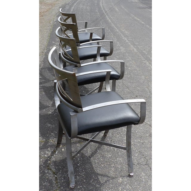 "Mid-Century Modern Vintage Mid Century Arthur Umanoff for Shaver Howard ""X"" Chairs- Set of 4 For Sale - Image 3 of 13"