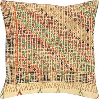 "1960s Turkish Jijim Pillow 17"" X 17"" For Sale"