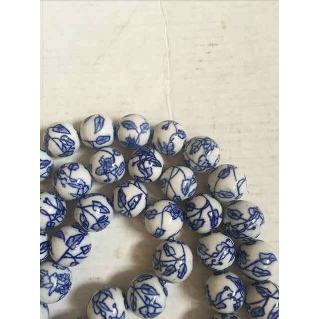 Blue & White Chinese Floral Porcelain Beads - Image 6 of 6