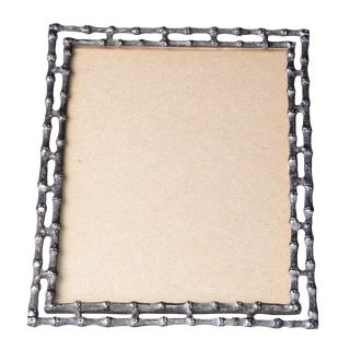 Bamboo-Style Pewter Picture Frame For Sale