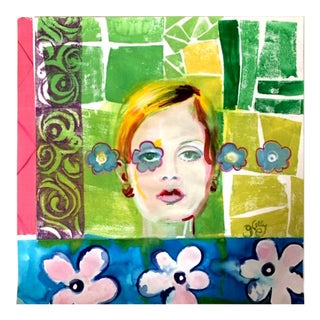 Gretchen Kelly Twiggy Multi Media Collage For Sale