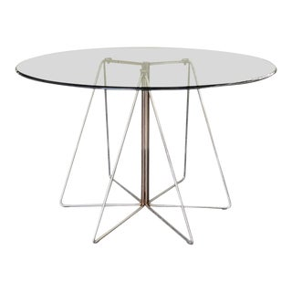 Massimo Vignelli Glass Dining Table For Sale
