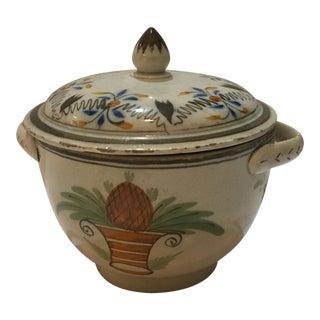 Vintage Decorative Ceramic Lidded Bowl