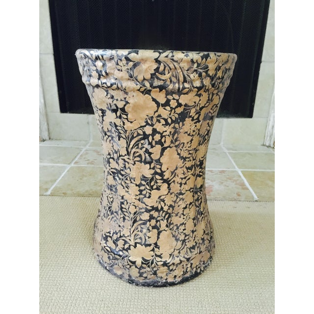 Gold and Black Pedestal Side Tables - A Pair - Image 8 of 8