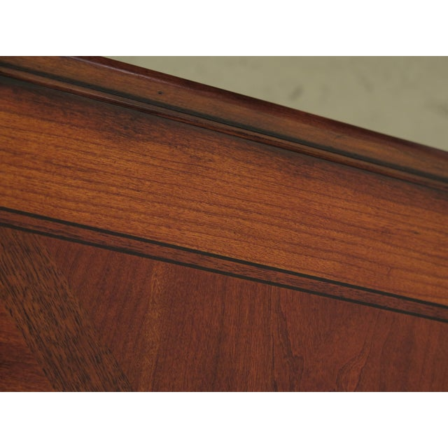 2010s Traditional Ethan Allen Tuscany Collection Walnut Finish Dining Table For Sale - Image 5 of 13