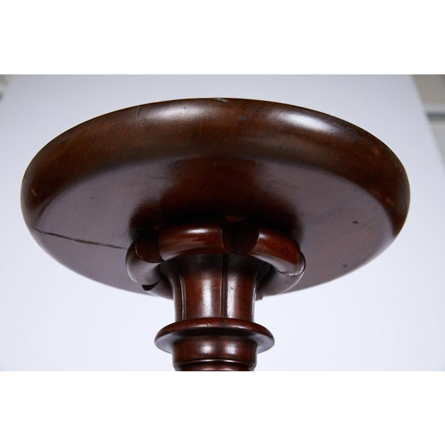 Early 20th Century Antique English Mahogany Torchere or Plant Stand For Sale - Image 5 of 13
