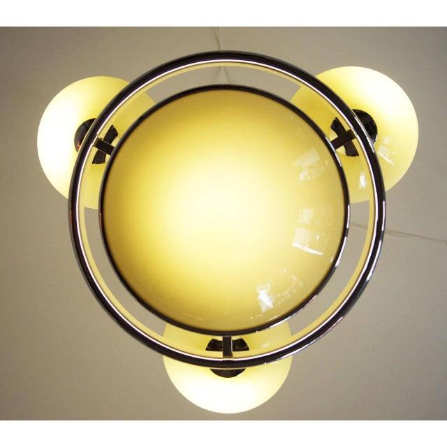 Silver Art Deco Streamline Chandelier For Sale - Image 8 of 10
