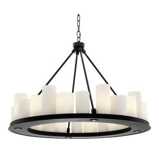 Black Round Candle Chandelier | Eichholtz Commodore For Sale