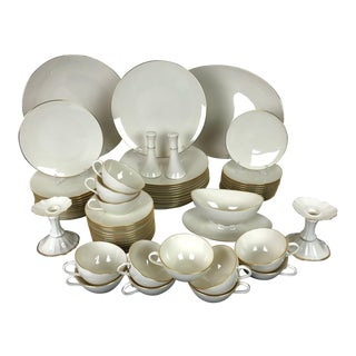 Lenox Olympia Gold Service for 12 Dinnerware Set - 67 Pieces For Sale
