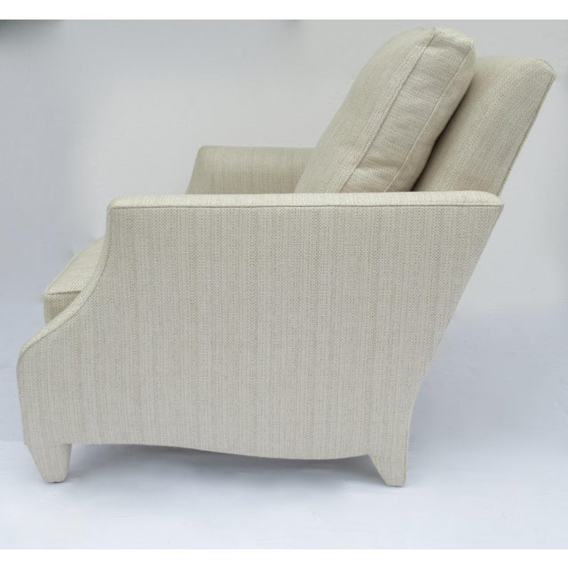 Donghia Donghia Ogee Club Chair and Ottoman For Sale - Image 4 of 13