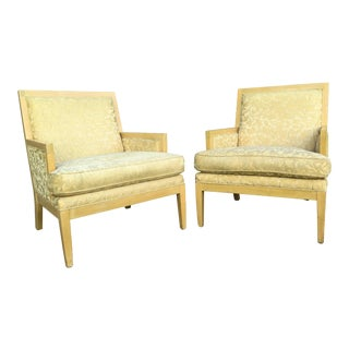 "Late 20th Century Vintage Roger Thomas ""Hitchcock"" Lounge Chair- A Pair For Sale"