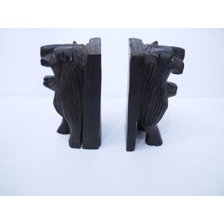 Hand-Carved African Lion Bookends - A Pair Preview