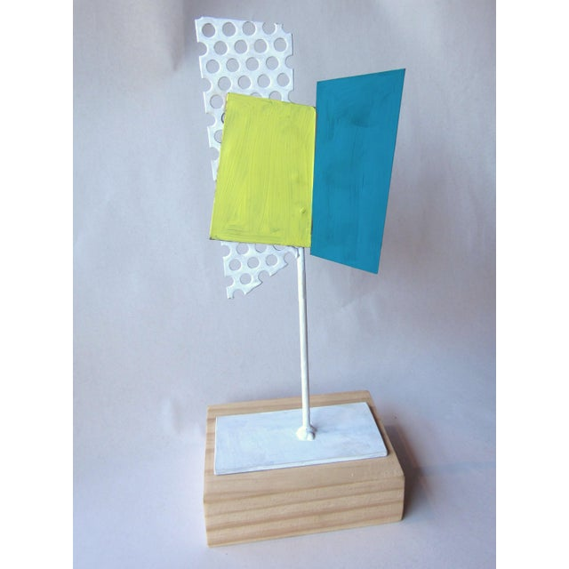 1980s Postmodern Perforated Metal Painted Abstract Sculpture For Sale In Chicago - Image 6 of 6