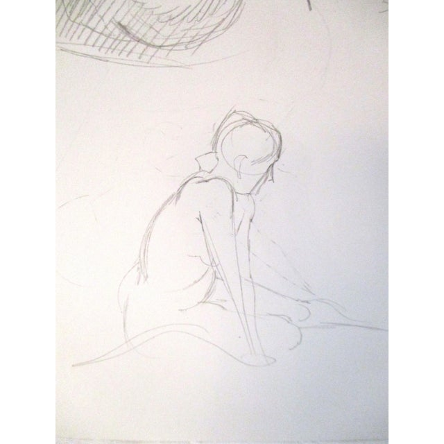 Original Figurative Artist Sketches - A Pair For Sale - Image 5 of 7