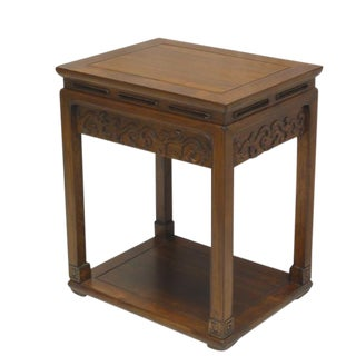 Chinese Carved Accent Table For Sale