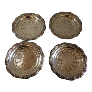 Odiot Silverplate Wine Coasters - Set of 4 For Sale